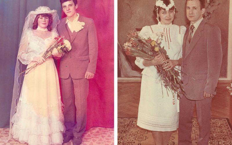 Пышная фата и объемные рукава: свадебная мода СССР 80-х годов