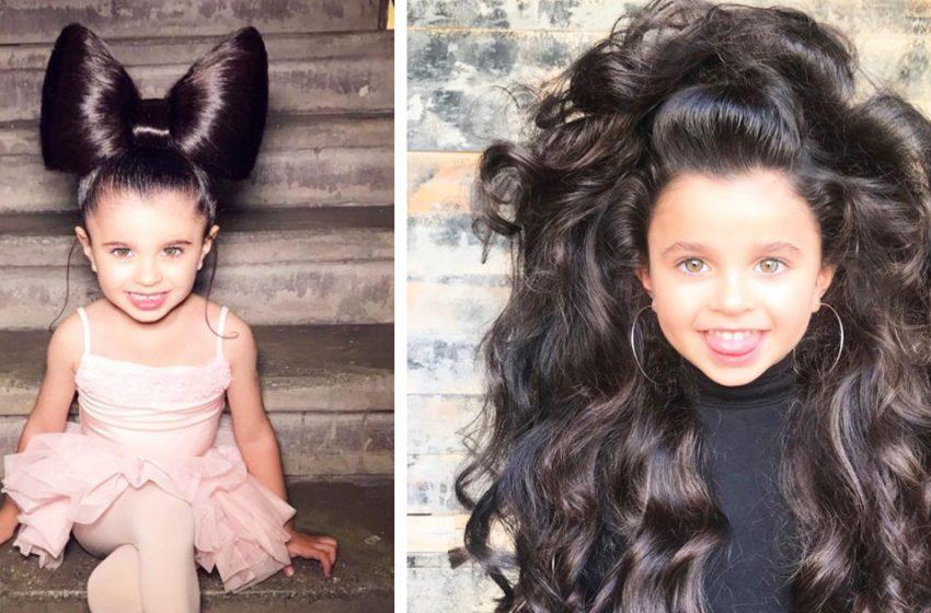 7-летняя красавица очаровала пользователей Сети своими роскошными волосами