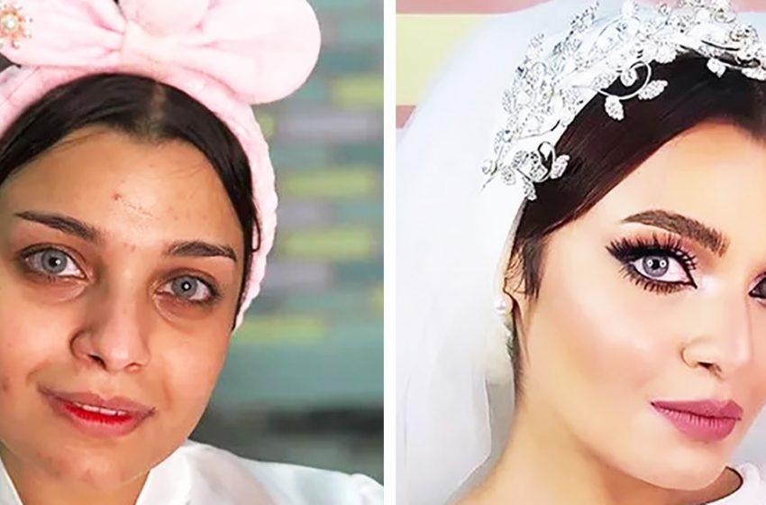«Как на самом деле выглядят арабские невесты»: 7 фотографий девушек без макияжа